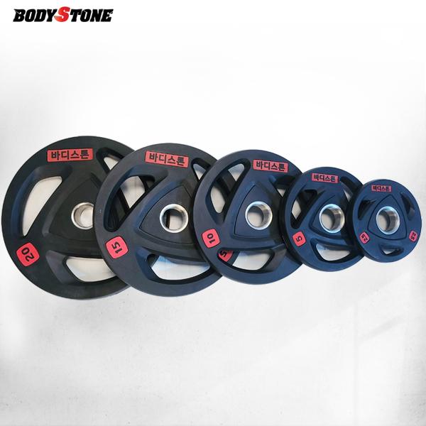 Bst 바디스톤 3홀 중량원판 105kg 세트 / 웨이트 플레이트/ weight plate/ 중량봉/역기봉