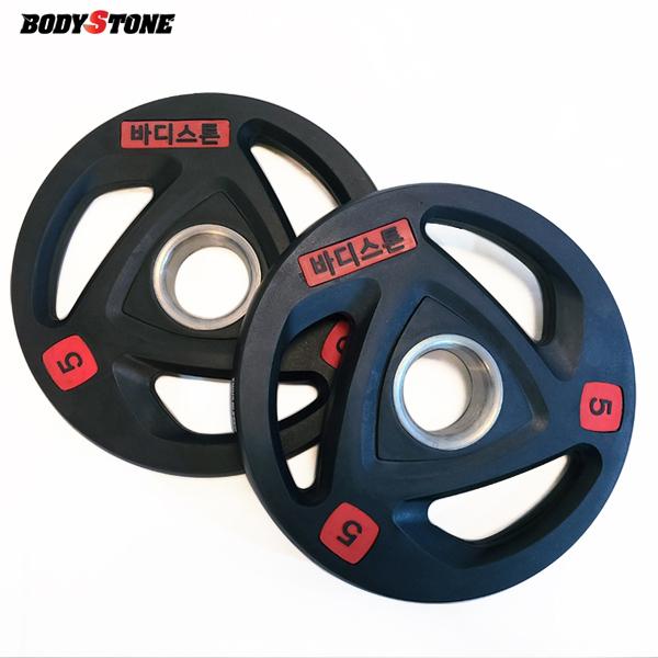 Bst 바디스톤 3홀 중량원판 5kg 세트 / 웨이트 플레이트/ weight plate/ 중량봉/역기봉